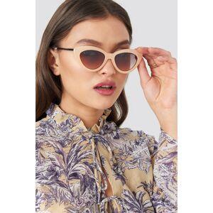 NA-KD Accessories Retro Cat Eye Sunglasses - Nude