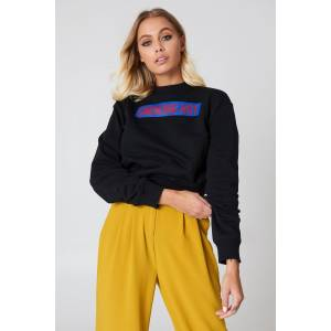 NA-KD Smoking Hot Sweater - Black