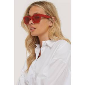 NA-KD Accessories Square Frame Sunglasses - Red