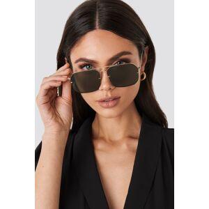 NA-KD Accessories Squared Wire Frame Sunglasses - Green