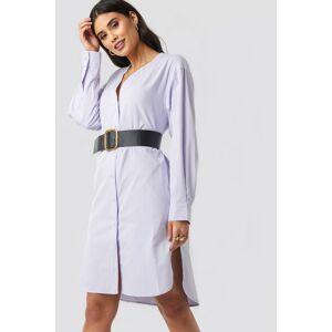 NA-KD Classic Striped Long Shirt Dress - Blue