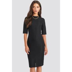 NA-KD Structured Midi Dress - Black
