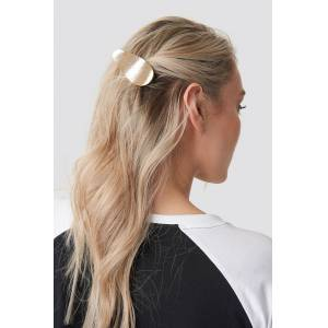 NA-KD Accessories Uneven Metal Hair Clip - Gold