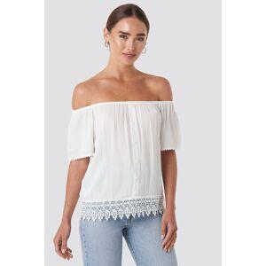 Trendyol Bora Off Shoulder Top - White