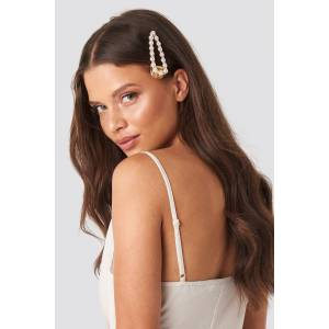 Trendyol Wilma Pearl Hairclip - White,Gold