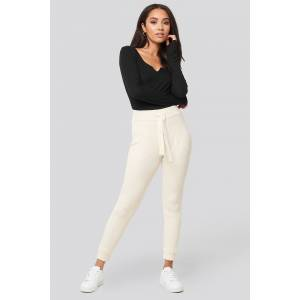 XLE the Label Ty Rib Knitted Pants - White