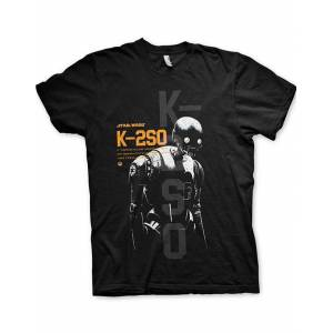 Star Wars Rouge One K-2SO - Svart Unisex T-skjorte