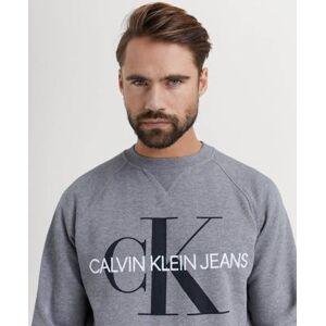 Calvin Klein Jeans SWEATSHIRT Washed Reg Monogram CN Grå