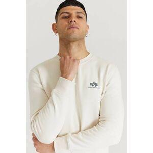 Alpha Industries Sweatshirt Basic Sweater Small Logo Vit  Male Vit