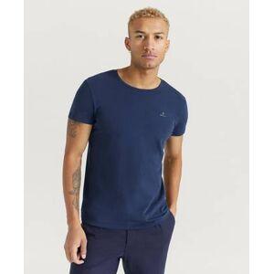 Gant T-shirt Basic Crew Neck 2-pack Blå