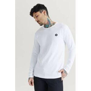 Wood Wood Långärmad T-Shirt Mel Long Sleeve Vit  Male Vit