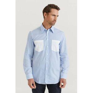 Helmut Lang Skjorta Stripe Pr Shirt Blå  Male Blå