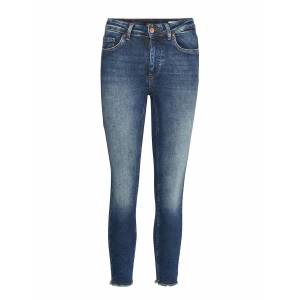 ONLY Onlblush Mid Sk Raw Ank Bb Rea4328 Skinny Jeans Blå ONLY