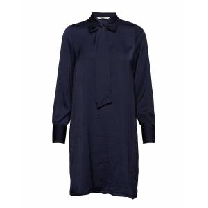 ONLY Onlregina New Bow Tie Dress Wvn Knälång Klänning Blå ONLY