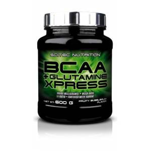 Scitec Nutrition BCAA  + Glutamine Xpress, 600g. Fruity Bubbelgum