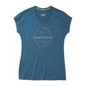 Smartwool Merino Sport 150 Go Far Feel Good Dam T-tröja blå