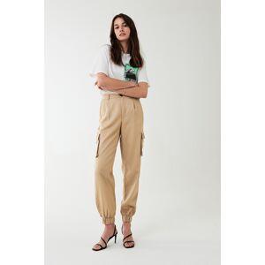 Gina Tricot Paula cargo trousers Beige (1040) 44