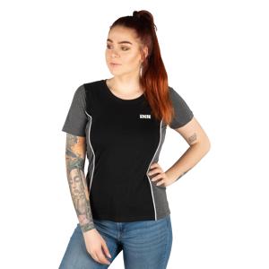 iXS Dam Team T-Shirt Svart-Grå