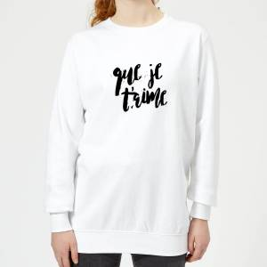 The Valentines Collection Que Je T'aime Women's Sweatshirt - White - M - White