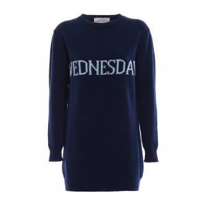 alberta ferretti Wednesday long crewneck