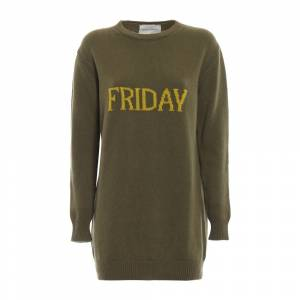 alberta ferretti Friday long crewneck sweater