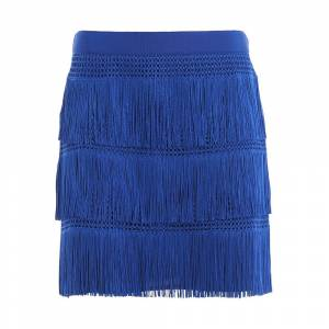 alberta ferretti Charleston style fringed mini skirt