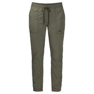 Jack Wolfskin Kalahari Cuffed Pants Women Grön