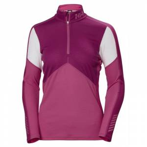Helly Hansen Women's HH Lifa Active 1/2 Zip Rosa
