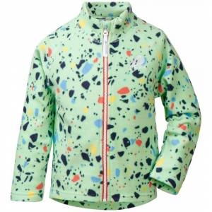 Didriksons Monte Kids Printed Jacket 4 Grön