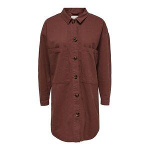 ONLY Loose Fit Långärmad Skjorta Kvinna Brun