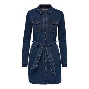 ONLY Skjortliknande Jeansklänning Kvinna Blå