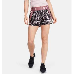Under Armour Women's UA Play Up 3.0 Print Shorts Pink MD