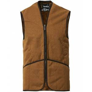 Barbour Lifestyle Warm Pile Waistcoat Zip-In Liner Brown