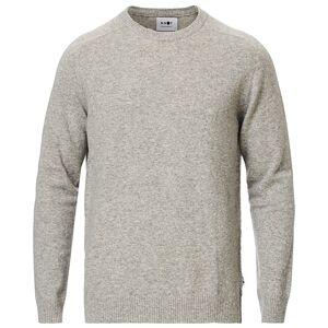 NN07 Edward Wool Crew Neck Pullover Light Grey Melange