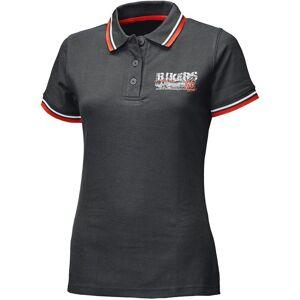 Held Bikers Kvinnors Polo Shirt XS Svart Röd