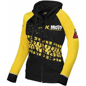 FC-Moto Corp Damer Zip Hoodie M Svart Gul