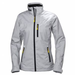 Helly Hansen Women's Crew Sailing Jacket   Hh Se M Grey