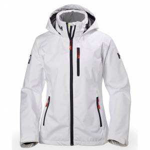 Helly Hansen W Crew Hooded Jacket L White