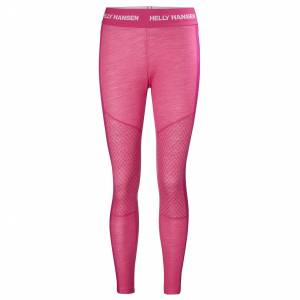 Helly Hansen W Hh Lifa Merino Graphic Pant S Pink