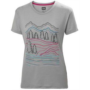 Helly Hansen W Skog Graphic Tshirt M Grey