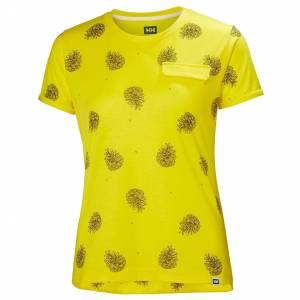 Helly Hansen W Lomma Tshirt S Yellow