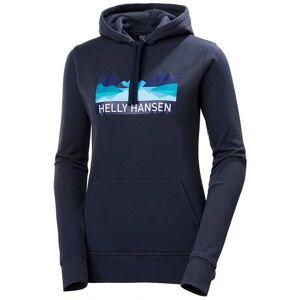 Helly Hansen Women's Nord Graphic Soft Pullover Hoodie   XS Navy