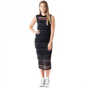 alexander mcqueen Sheer geo stripe dress
