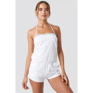 Calvin Klein Bandeau Romper - White