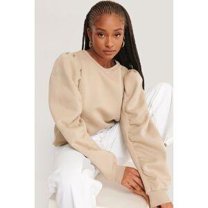 NA-KD Trend Sweatshirt Med Lång Ärm - Beige