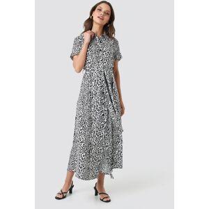NA-KD Short Sleeve Maxi Dress - Multicolor