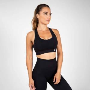 Gorilla Wear Yava Seamless Sport Bra, Black, Xs/s
