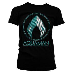 Tee Aquaman - Distressed Shield Girly Tee