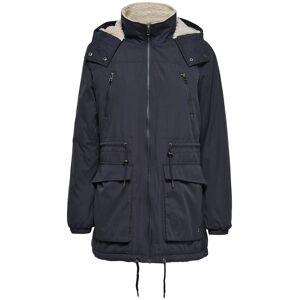 ONLY Anna Parka jacket Blue Graphite lättfodrad