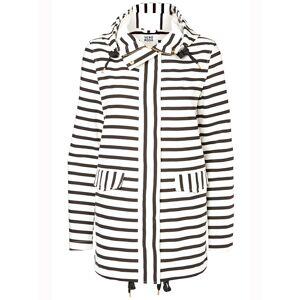 Vero Moda Stripe Jacket Snow White Black Iris Damjacka